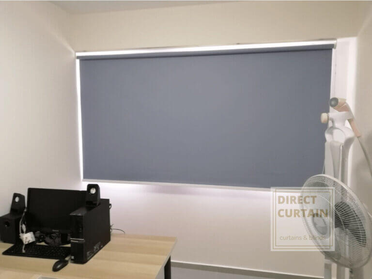 Grey-Roller-Blinds-in-HDB-Study-Room