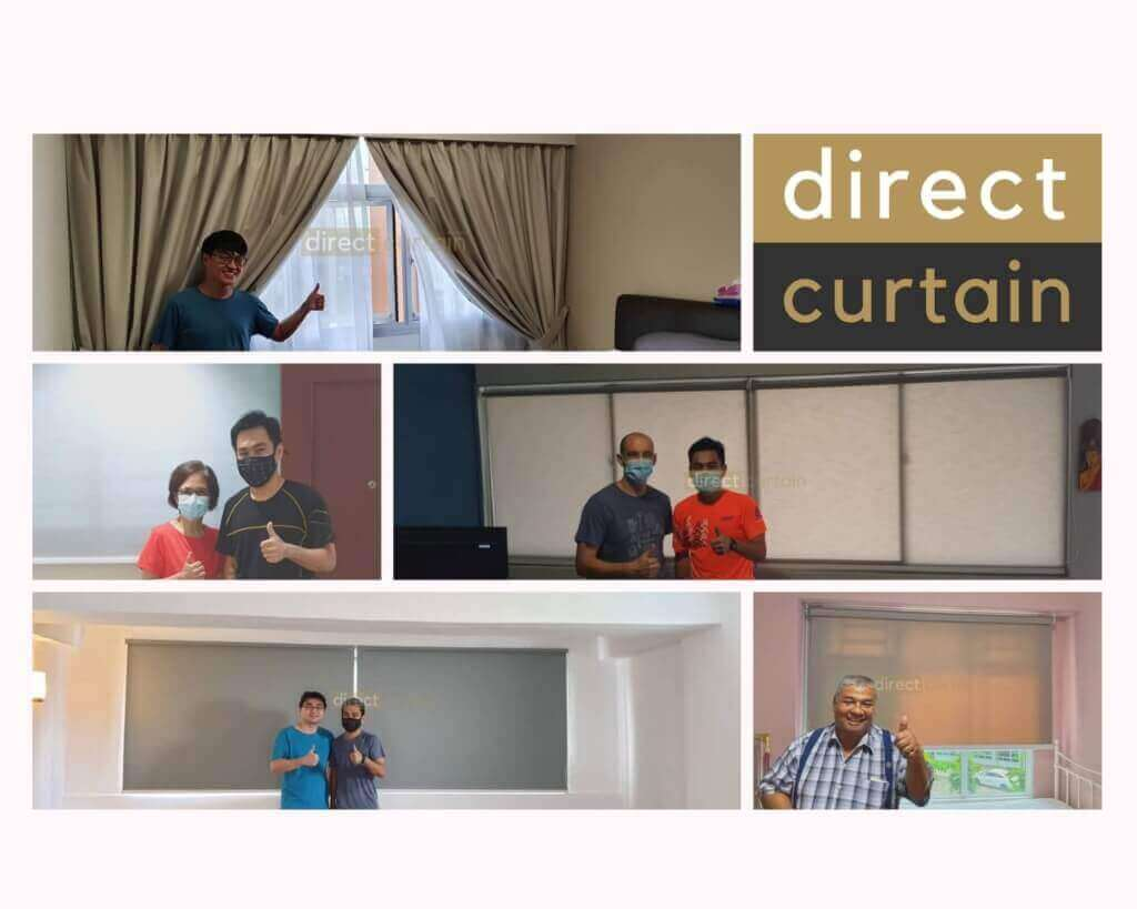 Curtains and Blinds Reviews - Happy Customers poses
