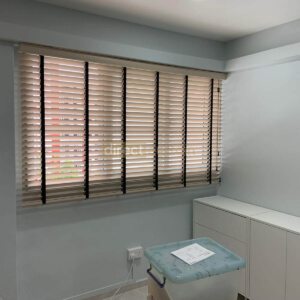Fauxwood (PVC) Venetian Blinds - 50mm - Limed White