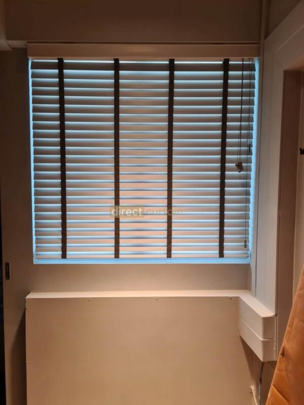 Venetian Blinds - Mist colour in a beautiful master bedroom Ang Mo Kio Singapore