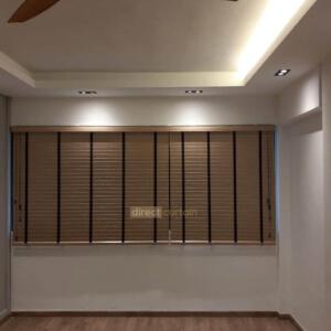 Fauxwood (PS) Venetian Blind - 50mm - 1030 in Living Room