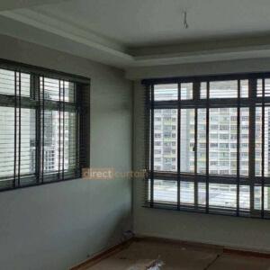 venetian blinds in punggol singapore living room opened