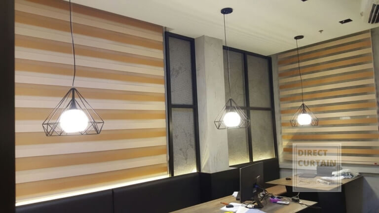 Dual Shade Combi Blinds in Office