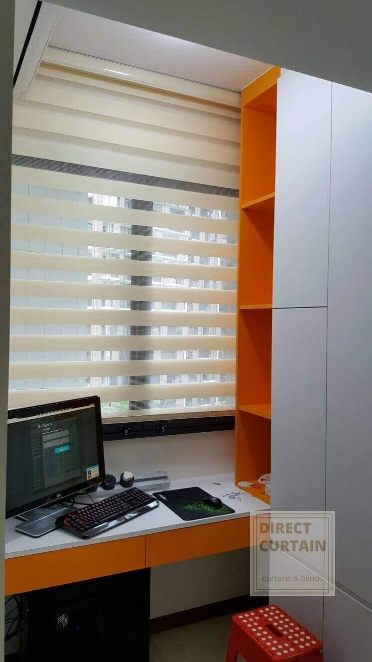 Functional Korean Combi Blinds for Study Room