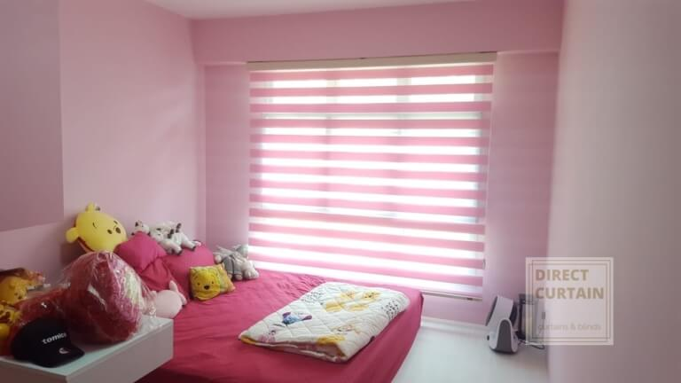 Pink Korean Rainbow Blinds for Kid's Room