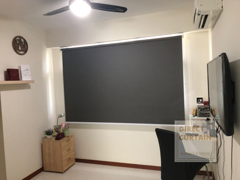 Beautiful Dark Grey Roller Blinds