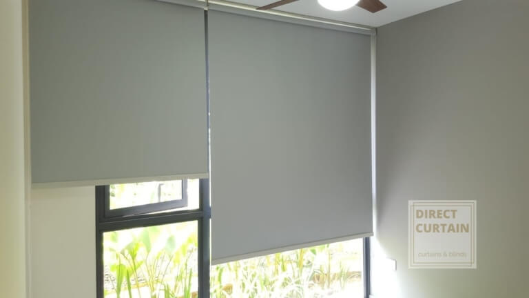 Gray Roller Blinds in Condo