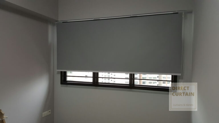 Grey Roller Blinds in Matching Wall Colours