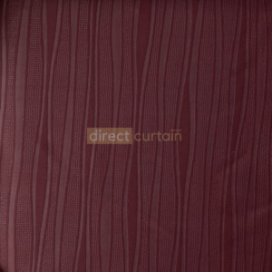 Dim-out Curtain - Wave Mulberry Red