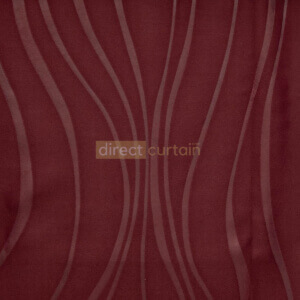 Dim-out Curtain - Ripple Mulberry Red